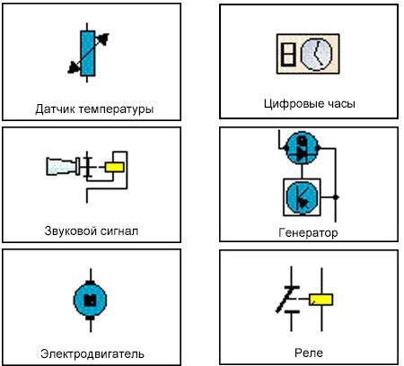 Условные обозначения элементов на электросхемах - Электрические схемы.